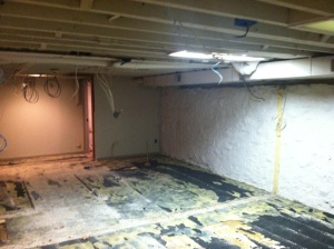 A portion of the scary basement. In six weeks, this will look totally different. Call the Property Brothers!