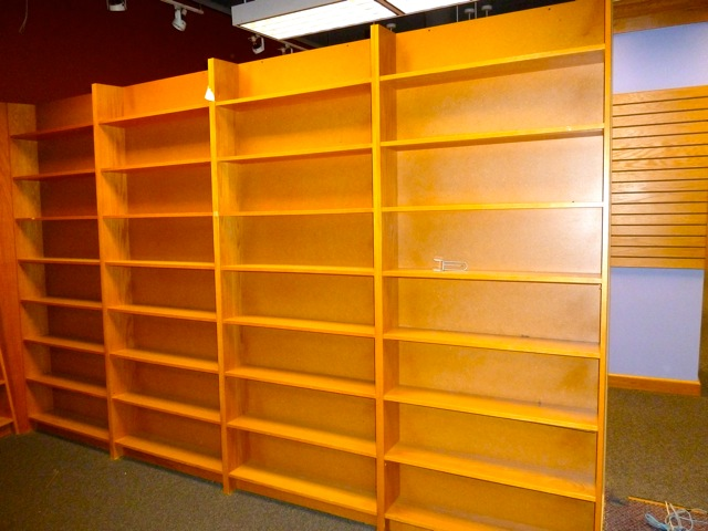 childrens section shelving we are repurposing - Bookshelves For Bookstores