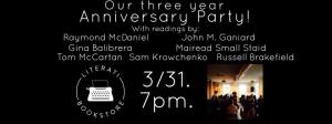 3 year anniversary party